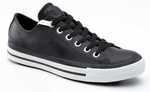 Converse Chuck Taylor Leather Ox Shoes Black White