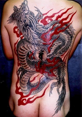 japońskie smoki tatuaże
