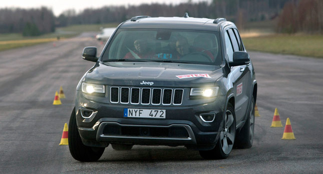 Jeep Grand Cherokee test łosia 2014