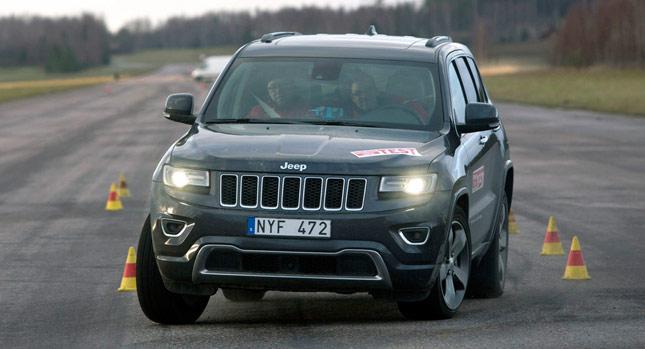 Jeep Grand Cherokee test łosia 2014