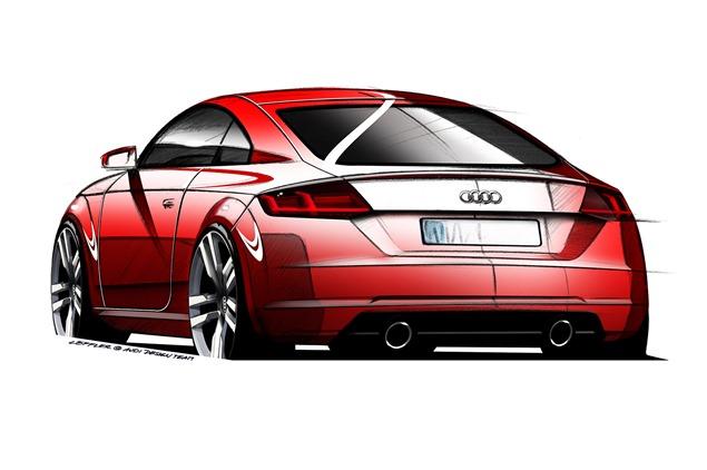 Audi TT trzeciej generacji tył
