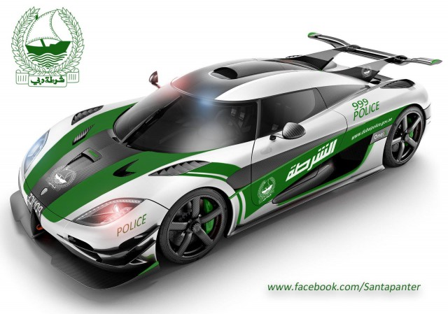 Koenigsegg One:1 policja Dubaj