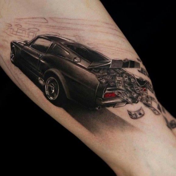 Zabytkowe Samochody Kilka Pomysłów Na Tatuaż Twardziel