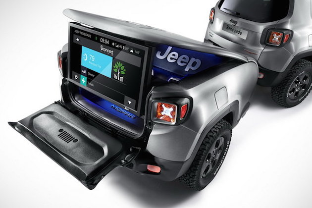 Jeep Renegade Hard Steel concept with Uconnect live infotainment system feel desain 4