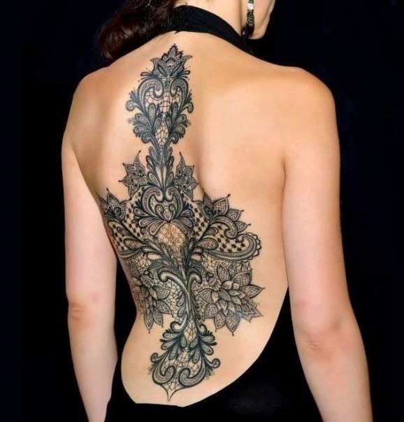 Koronkowe Tatuaże Idealne Dla Twojej Kobiety Twardziel