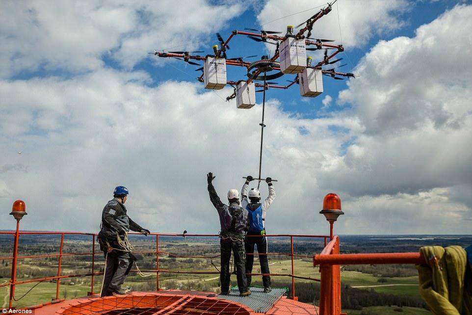 skok z drona